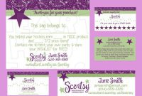 Scentsy Business Bundle Custom Printable Digital Business Cards Bag intended for Scentsy Business Card Template