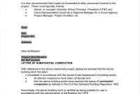 Schedule Mplate Project Completion Certificate Report World Bank with Certificate Of Substantial Completion Template