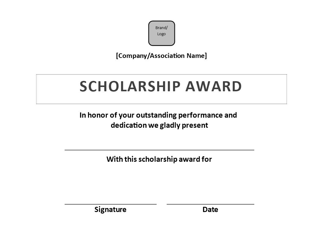 Scholarship Award Certificate Sample  Templates At For Scholarship Certificate Template
