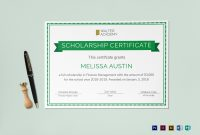 Scholarship Certificate Design Template In Psd Word Publisher regarding Scholarship Certificate Template
