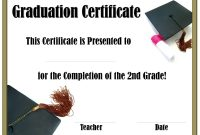 School Graduation Certificates  Customize Online With Or Without A within 5Th Grade Graduation Certificate Template