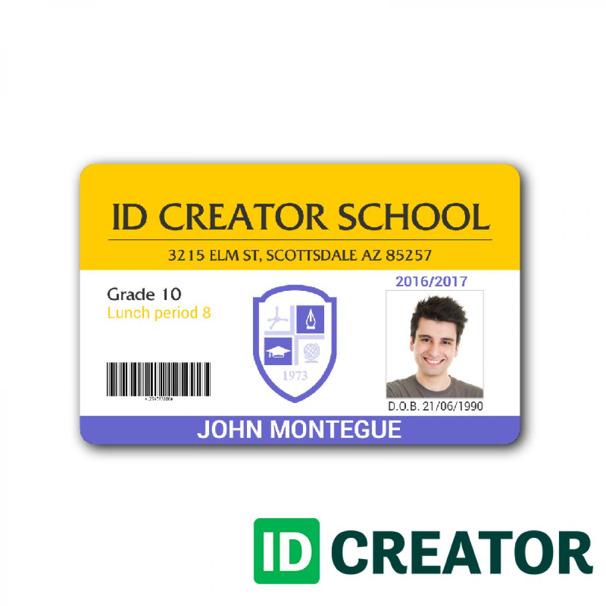 School Id Card Template Type Stupendous Ideas Cdr Microsoft Word Regarding Id Card Template Word Free