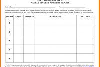 School Progress Report Template  Sansurabionetassociats with regard to High School Progress Report Template