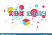 Science Experiment Word Concept Banner Design Stock Vector intended for Science Fair Banner Template