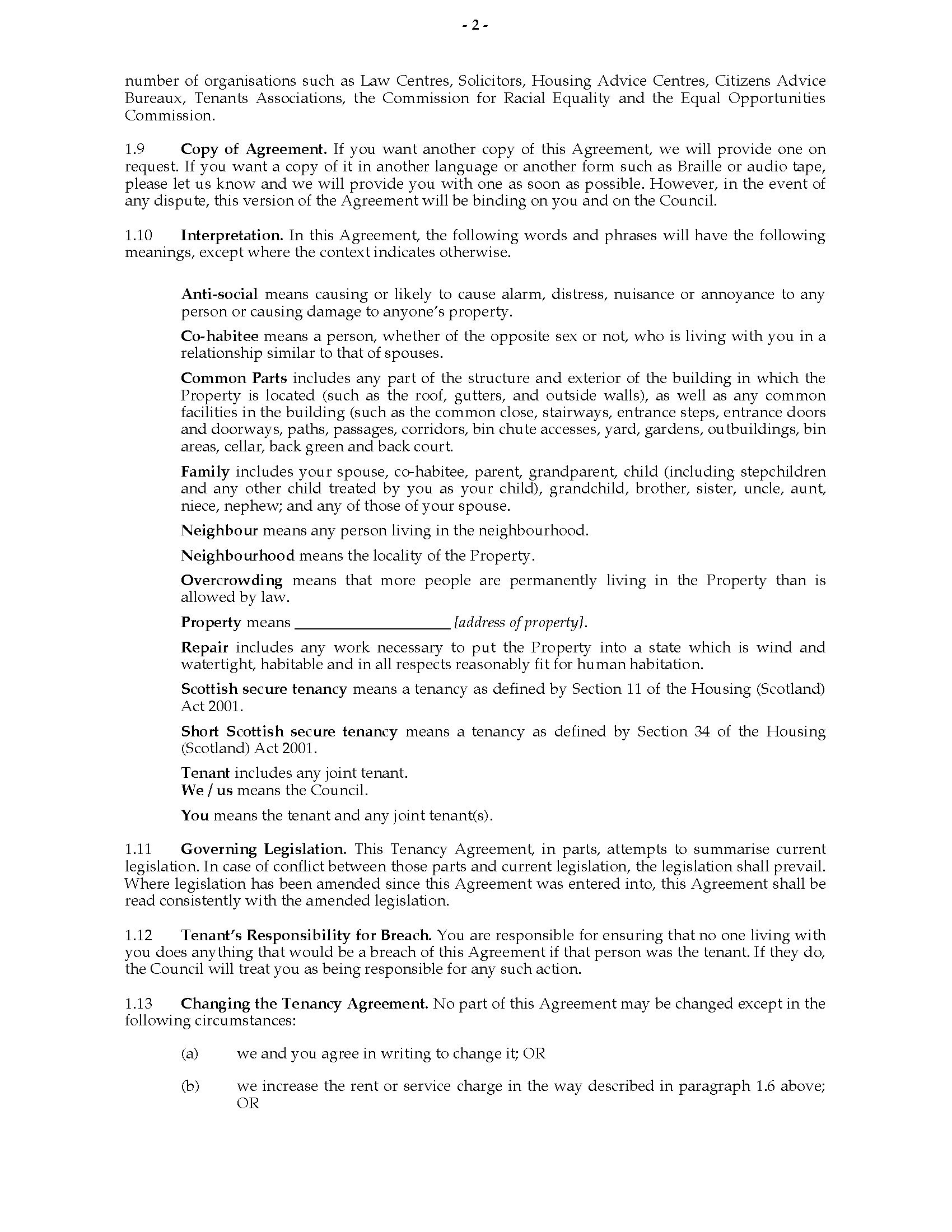 Scotland Short Scottish Secure Tenancy Agreement  Legal Forms And Within Scottish Secure Tenancy Agreement Template