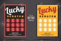 Scratch Off Lottery Card Creative Modern Ticket Vector Color regarding Scratch Off Card Templates
