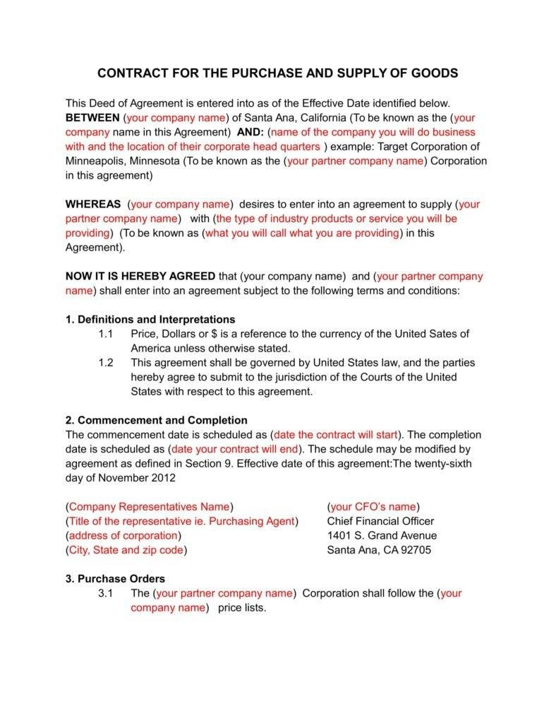 Secrets For Writing A Solid Business Contract  Free  Premium Throughout Heads Of Terms Agreement Template