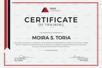 Security Training Certificate Design Template In Psd Word pertaining to Template For Training Certificate