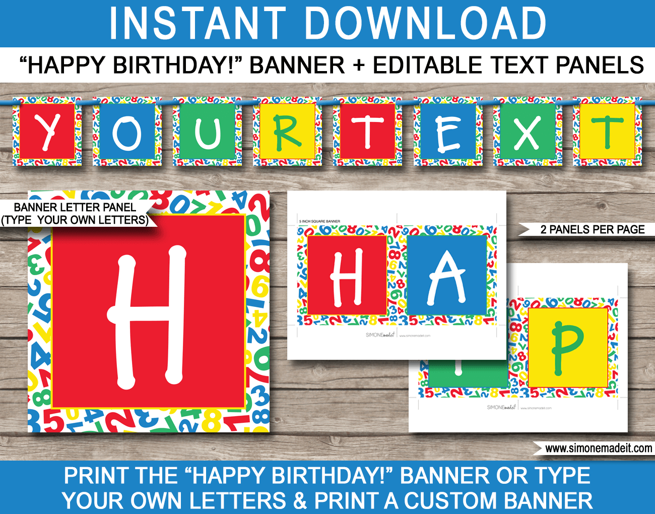 Sesame Street Party Banner Template  Happy Birthday Bunting For Sesame Street Banner Template