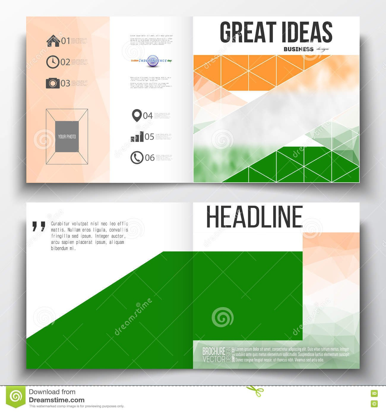 Set Of Annual Report Business Templates For Brochure Magazine With Ind Annual Report Template