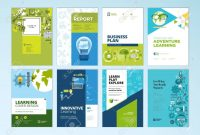 Set Of Brochure Design Templates On The Subject Of Education School with regard to School Brochure Design Templates