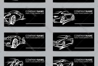 Set Of Car Business Cards Royalty Free Vector Image with regard to Automotive Business Card Templates