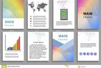 Set Of Flyer Brochure Design Templates Stock Vector  Illustration throughout Online Free Brochure Design Templates