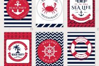 Set Of Nautical And Marine Banners And Flyers Elegant Card throughout Nautical Banner Template