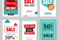Set Of Sale Website Banner Templatessocial Media Banners Stock intended for Free Online Banner Templates
