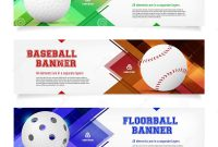 Set Of Sport Banner Templates With Ball And Sample Text Stock Vector intended for Sports Banner Templates