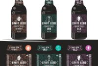 Set Of Templates Label For Craft Beer in Craft Label Templates