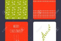 Set Of Winter Small Card Templates Collection For Christmas regarding Small Greeting Card Template