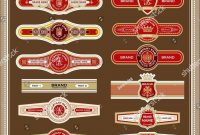 Set Old Fashioned Cigar Labels Perfect Stock Vector Royalty Free regarding Cigar Label Template