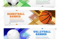 Set Sport Banner Templates Ball Sample Stock Vector Royalty Free in Sports Banner Templates