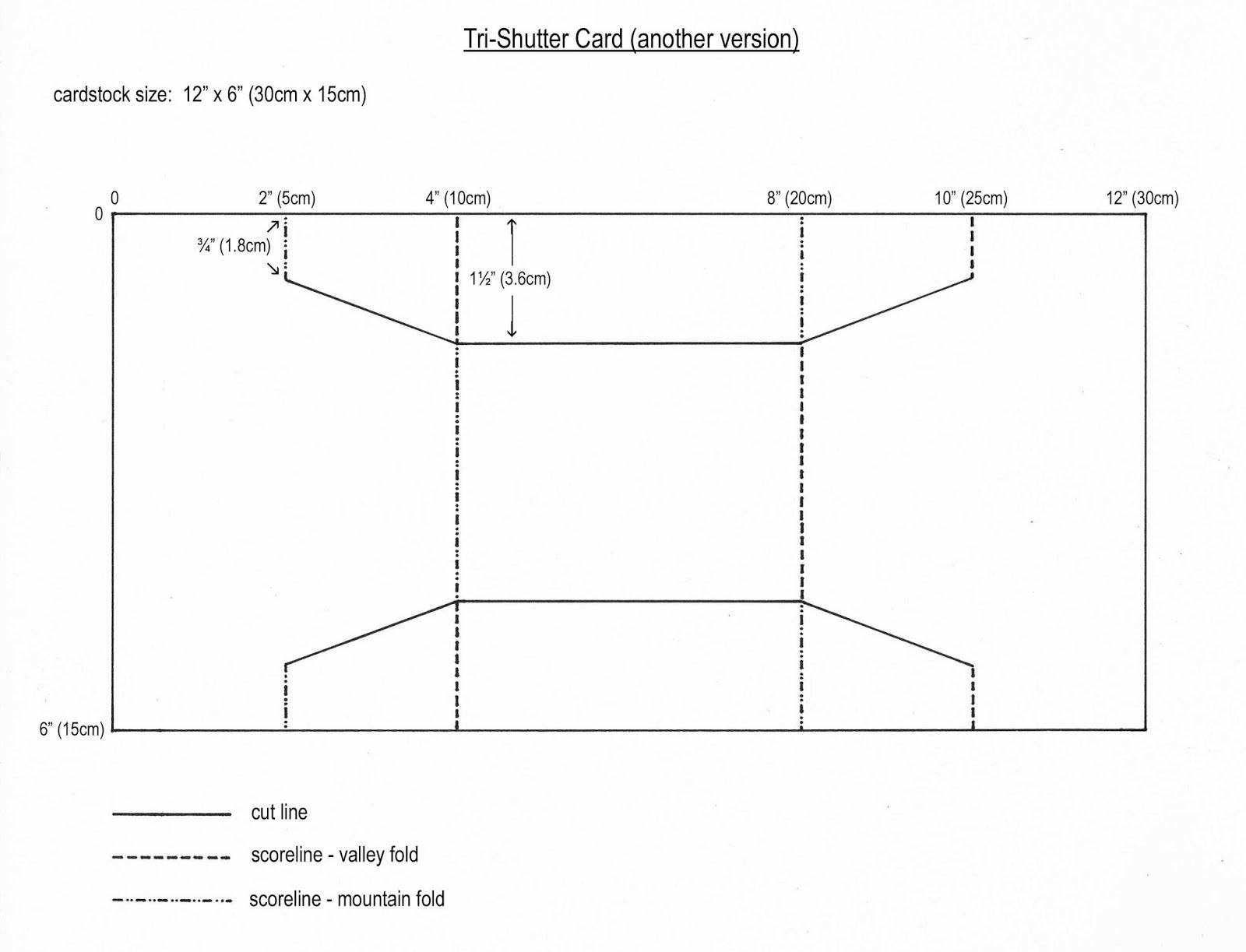 Shaped Trishutter Card Template  Just Templates  Card Making Intended For Three Fold Card Template