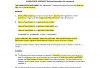 Shareholders Agreement Template – Uk Template Agreements And Sample throughout Sample Shareholder Agreement For Startup