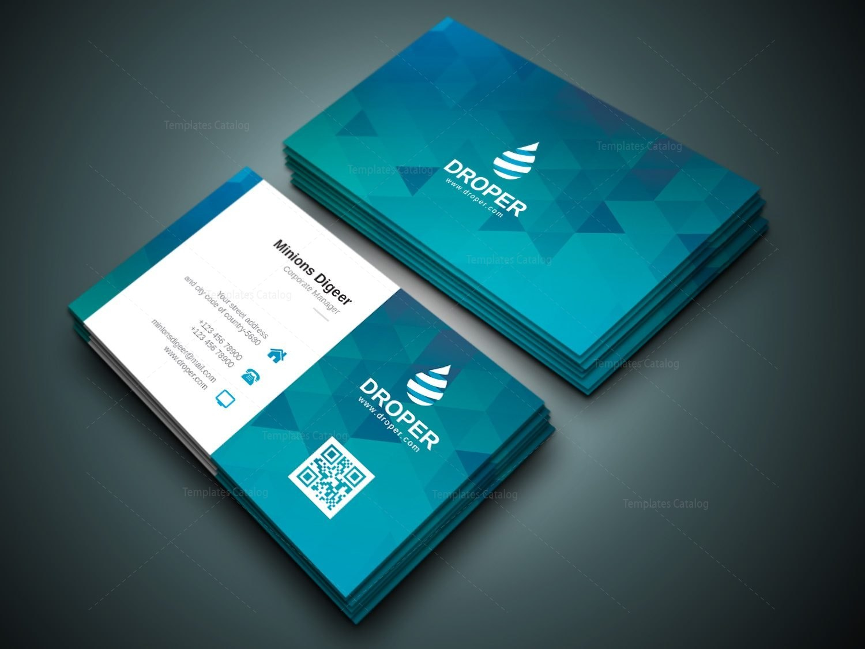 Shark Professional Corporate Business Card Template Inside Professional Name Card Template