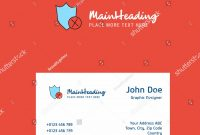 Shield Logo Design Business Card Template Stock Vector Royalty Free within Shield Id Card Template