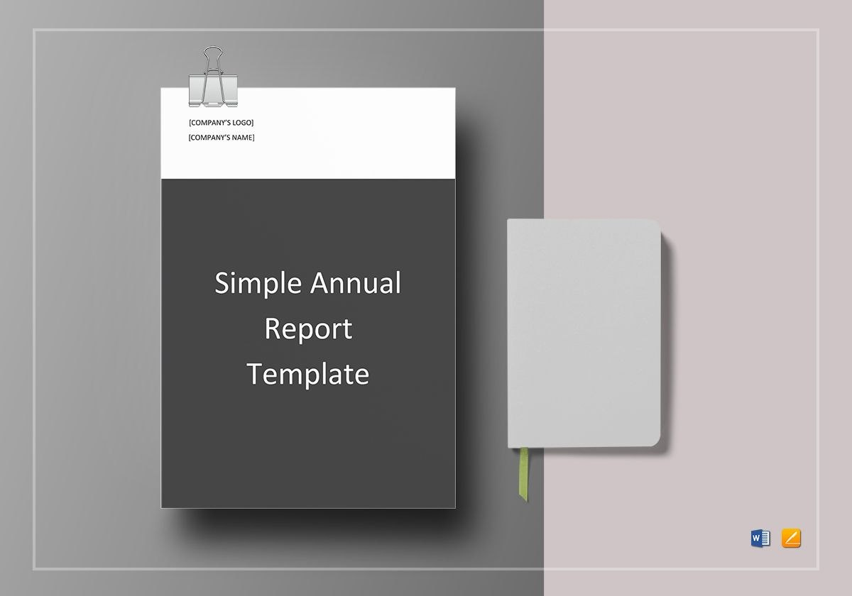 Simple Annual Report Template In Word Google Docs Apple Pages Throughout Simple Report Template Word