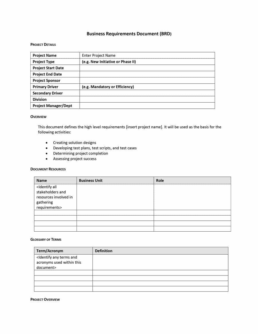 Simple Business Requirements Document Templates ᐅ Template Lab With Business Analyst Documents Templates