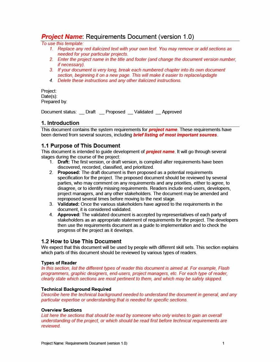 Simple Business Requirements Document Templates ᐅ Template Lab With Regard To Example Business Requirements Document Template