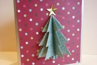 Simple D Christmas Card  Cut  Paste  Christmas Tree Cards throughout 3D Christmas Tree Card Template