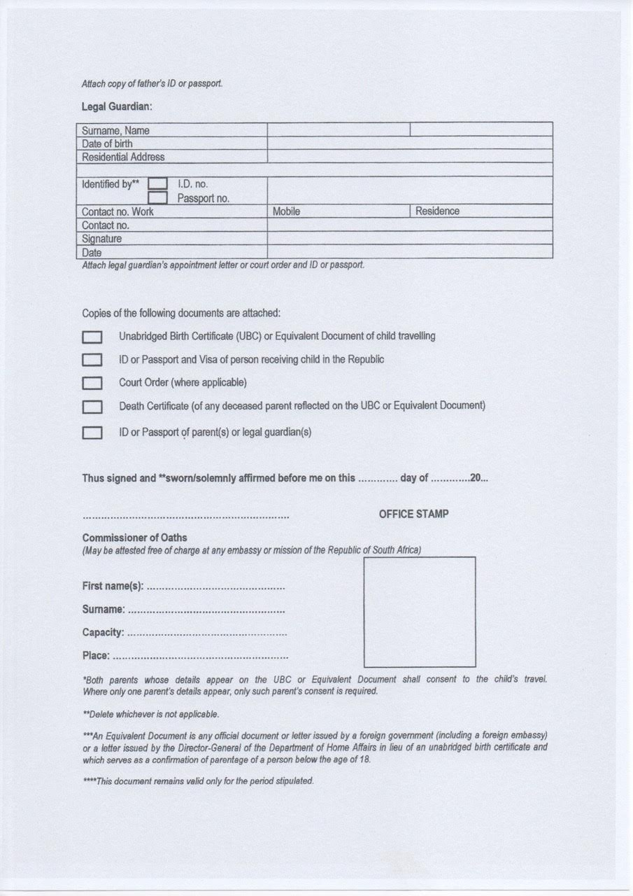 Simple Guide To Travelling With Children In And Out Of South Africa Intended For South African Birth Certificate Template