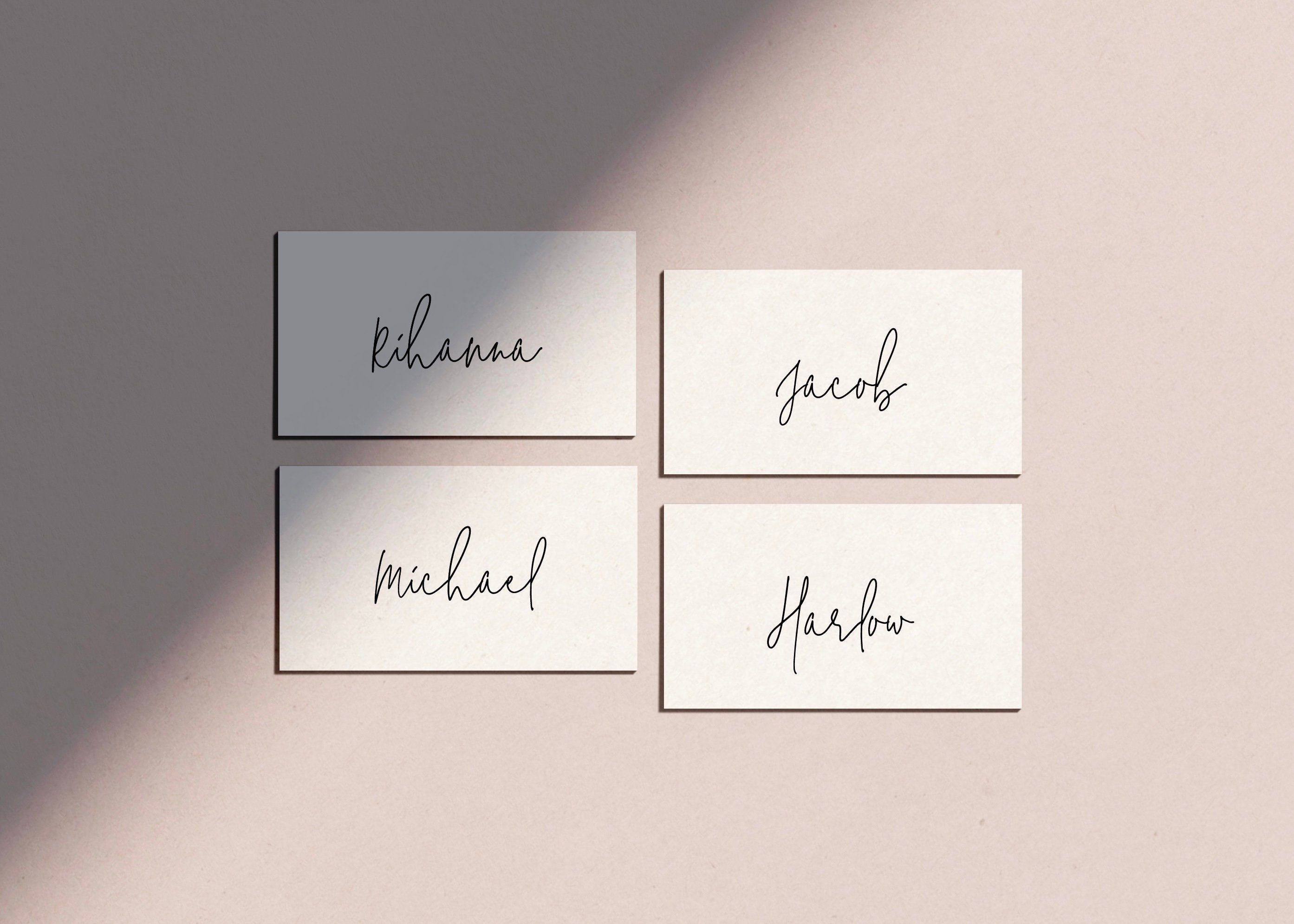 Simple Place Card Template Wedding Place Name Settings  Etsy For Michaels Place Card Template