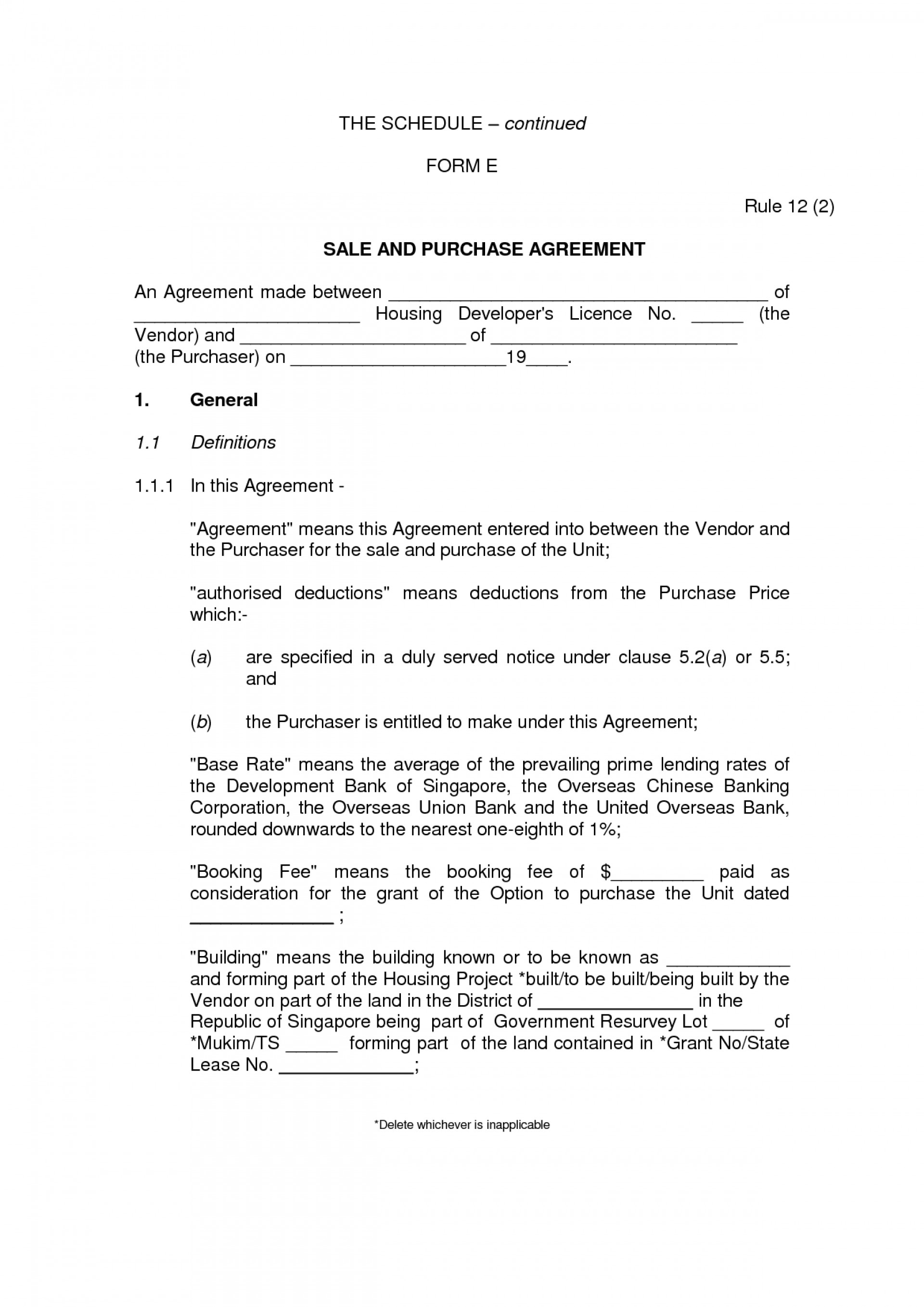 Simple Purchase Agreement Template Trec Lease Fresh Hire Free For Share Purchase Agreement Template Singapore