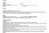 Simple Room Rental Agreement Templates  Template Archive in Yearly Rental Agreement Template
