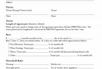Simple Room Rental Agreement Templates  Template Archive inside House Share Tenancy Agreement Template