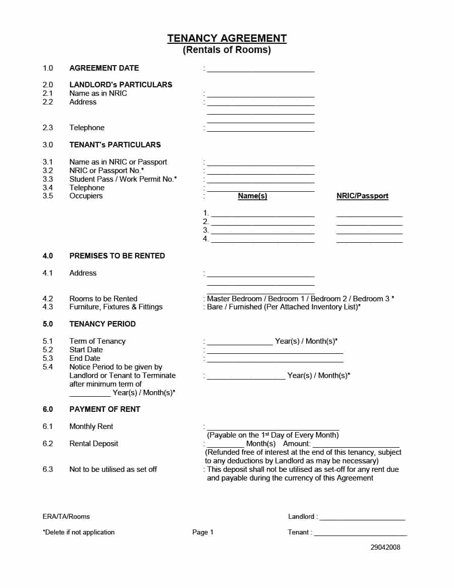 Simple Room Rental Agreement Templates  Template Archive Throughout Free Basic Lodger Agreement Template
