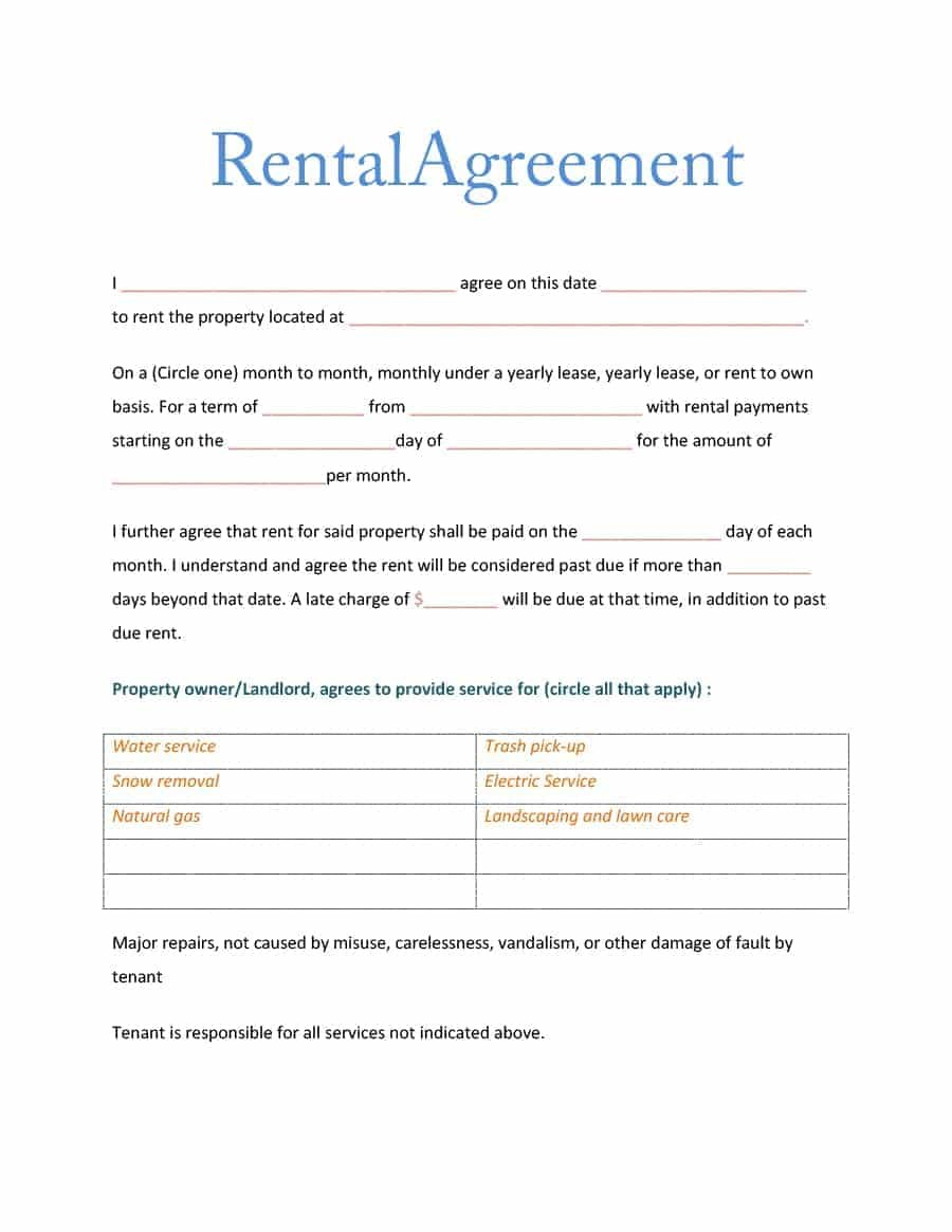 Simple Room Rental Agreement Templates  Template Archive With Regard To Bedroom Rental Agreement Template