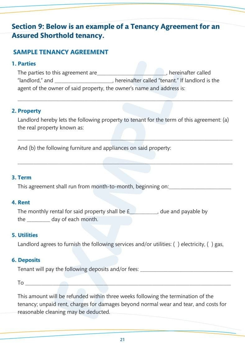 Simple Tenancy Agreement Templates  Pdf  Free  Premium Templates With Regard To Simple House Rental Agreement Template