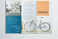 Simple Tri Fold Brochure  Broshure  Graphic Design Brochure regarding Adobe Indesign Tri Fold Brochure Template