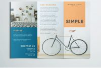 Simple Tri Fold Brochure  Free Indesign Template throughout Brochure Template Indesign Free Download