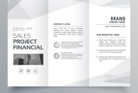 Simple Trifold Brochure Template Design With Vector Image with One Page Brochure Template