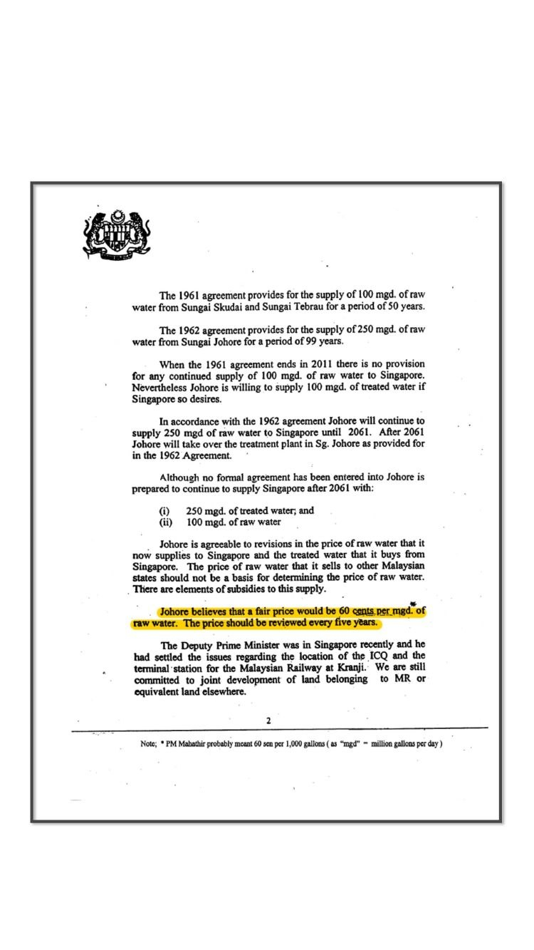 Singapore And Malaysia The Water Issue Inside Share Purchase Agreement Template Singapore