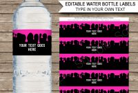 Slime Water Bottle Labels  Pink Slime Theme Birthday Party with regard to Birthday Water Bottle Labels Template Free