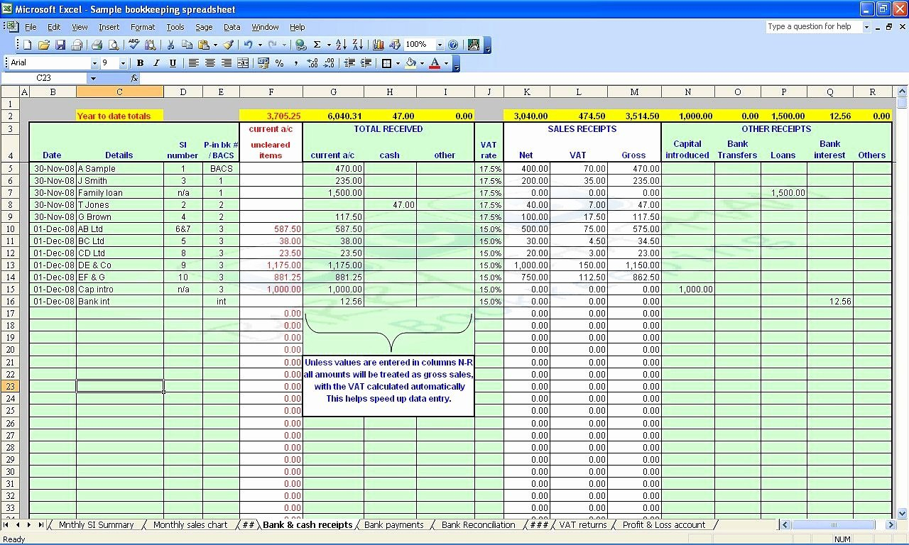 Small Business Accounting Spreadsheet Template Accounting Intended For Small Business Accounting Spreadsheet Template Free