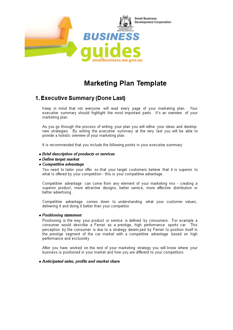 Small Business Marketing Plan  Templates At Allbusinesstemplates Within Marketing Plan For Small Business Template