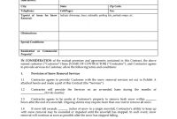 Snow Removal Contract  Fill Online Printable Fillable Blank regarding Free Snow Plowing Contract Templates