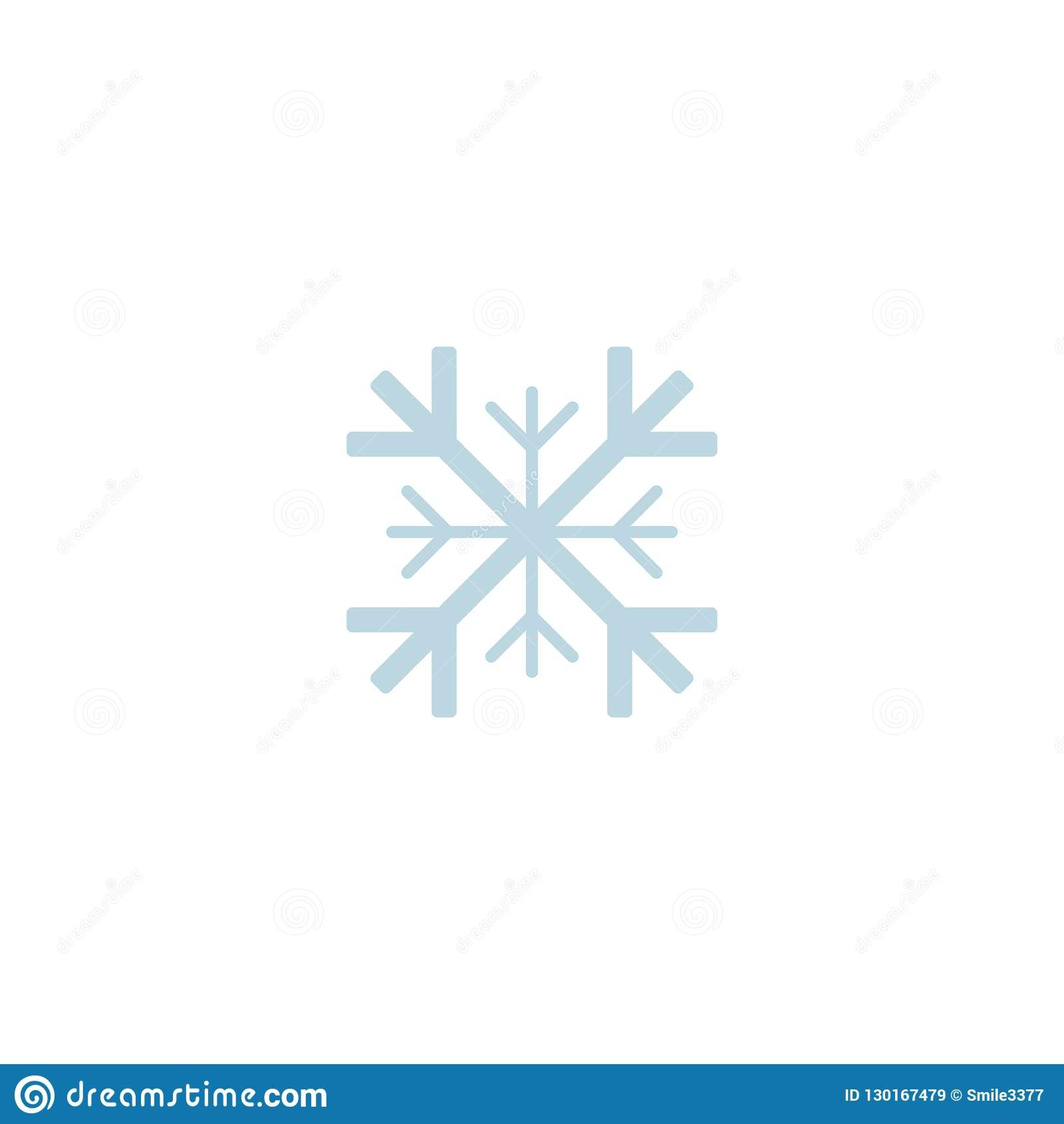 Snowflake Icon Template Christmas Snowflake On Blank Background In Blank Snowflake Template