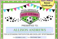 Soccer Award Certificate Examples  Pdf Psd Ai Indesign throughout Soccer Award Certificate Template